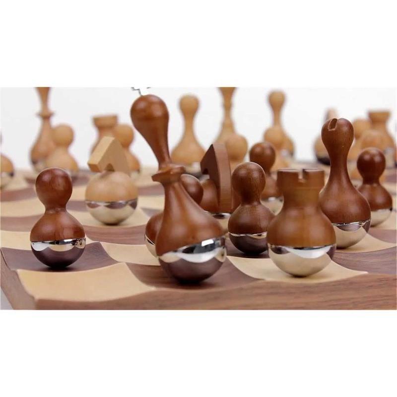 Šachy WOBBLE 38x38 cm, figurky se kývají_0