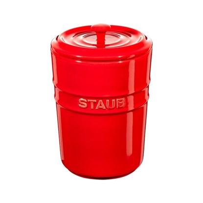 Dóza Staub s víčkem červená_0