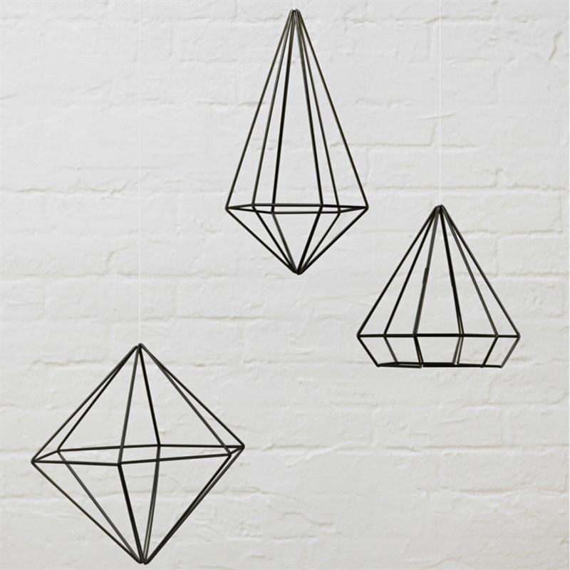 Dekorace PRISMA set/3ks černá_1