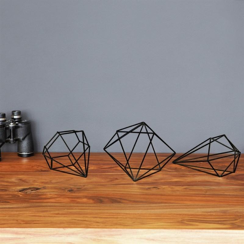 Dekorace PRISMA set/3ks černá_2