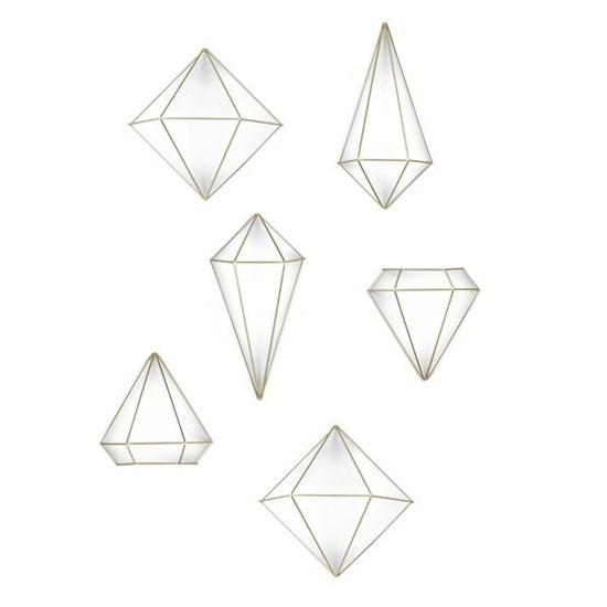 Dekorace PRISMA set/3ks mosaz_0