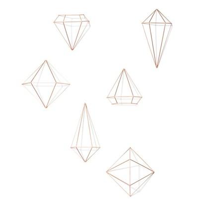 Dekorace PRISMA set/3ks měděná_3