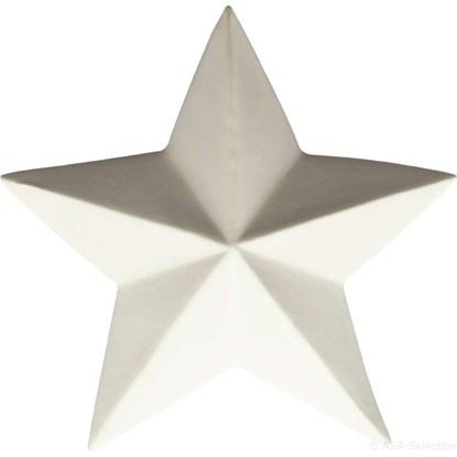 Dekorační hvězda 7,6 cm bílá_0