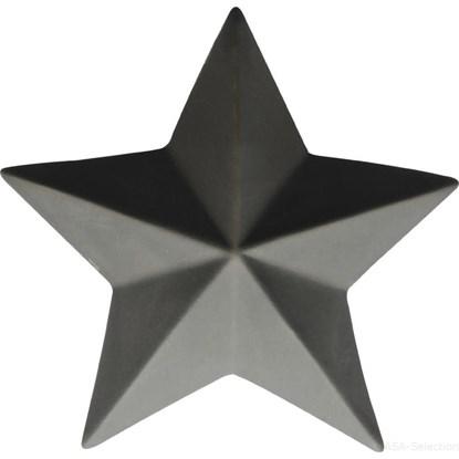Dekorační hvězda 13,5 cm šedá_0