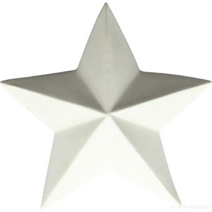 Dekorační hvězda 18,5 cm bílá_0