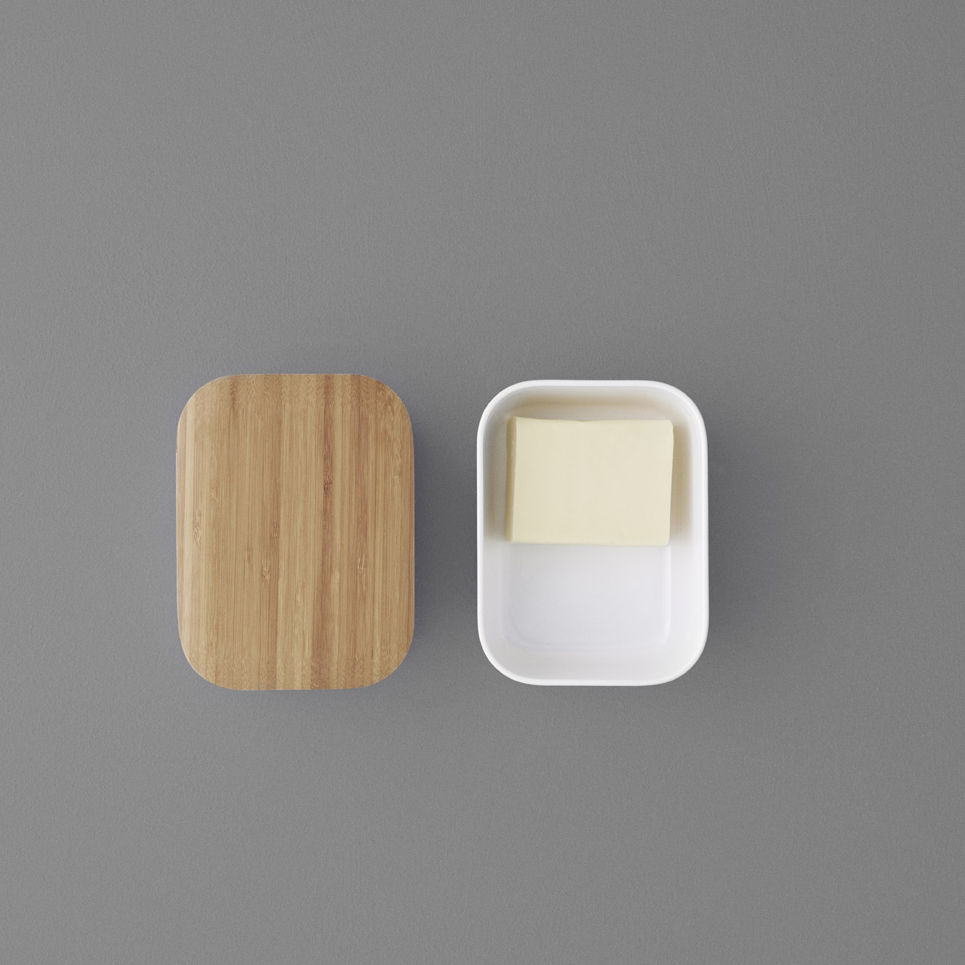 Dóza na máslo BOX-IT bílá_1