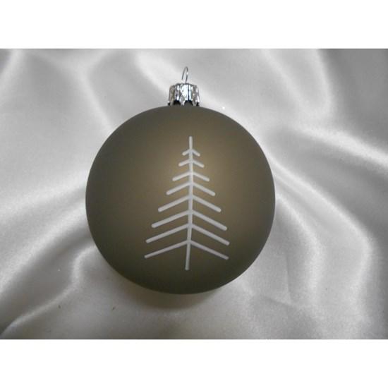 Vánoční koule 8 cm dekor vločka/stromek SET/6ks_0