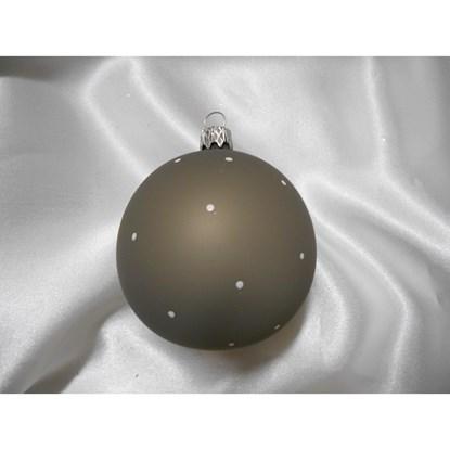 Vánoční koule 8 cm dekor tečky/airbrush SET/6ks_0