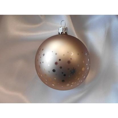 Vánoční koule 8 cm dekor puntíky / tečky SET/6ks_0