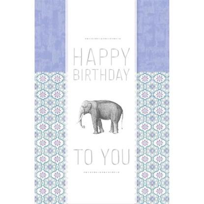 Přání Birthday Elefant Transparent_0