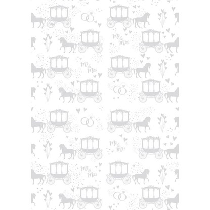 Balicí papír 70x100cm Hochzeitskutsche/w_0