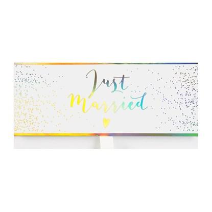 Dárková obálka 23x11cm Just Married we_0
