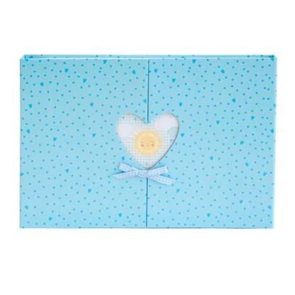 Fotoalbum 35x24 Baby Herzfenster bleu_0