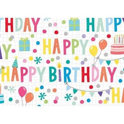 Balicí papír arch 50x70cm-Happy Birthday_0