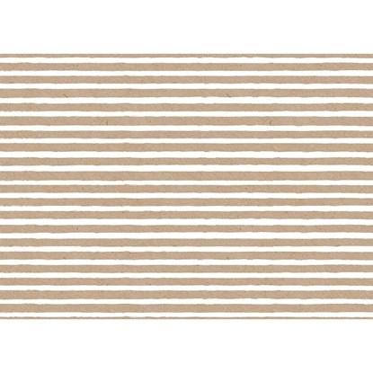 Balicí papír arch 50x70cm Streifen natur_0