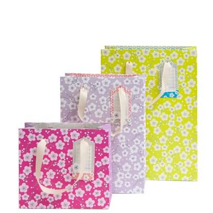 Dárková taška SET 3 vel. Blüte pink mauv_0