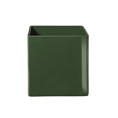 Květináč QUADRO 8x8x8cm tmavě zelená_0