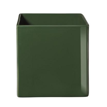 Květináč QUADRO 15x15x15cm tmavě zelená_0