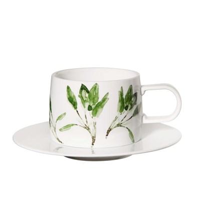 Šálek na kávu s podšálkem MUGA šalvěj_0