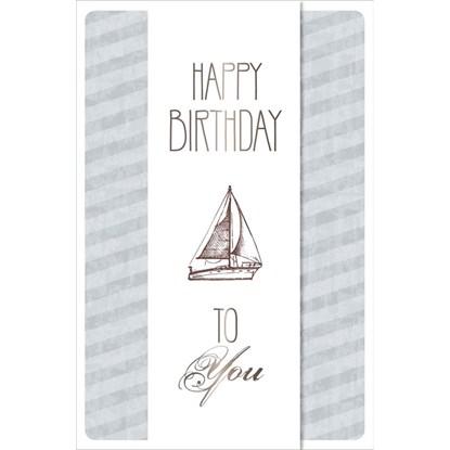 Přání ražené Birthday Segelboot Transpar_0