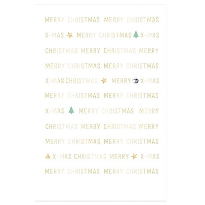 Přání fólie christmas typography gemston_0