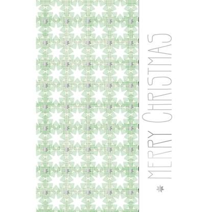 Přání fólie christmas design stars green_0