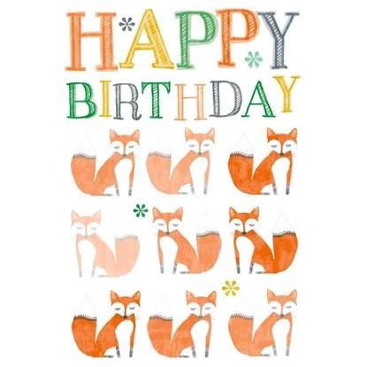 Přání lentikulární fólie birthday fox_0