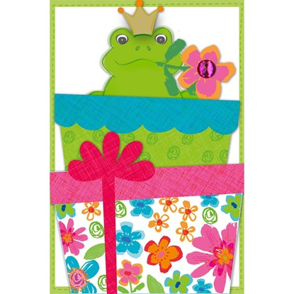 Přání pop up frog king_0