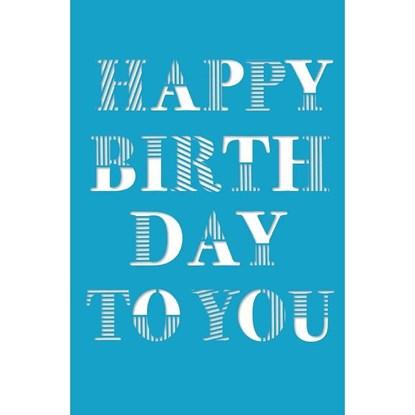 Přání lasdr Birthday Typographie petrol_0