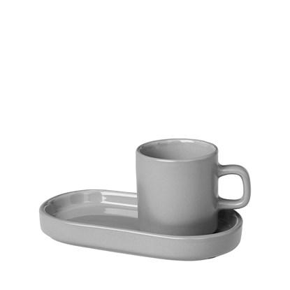 Šálek na espreso s táckem SET/2ks šedý_1