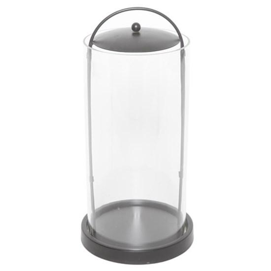 Hurrican w. black base, metal/glass,_0