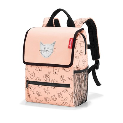 Dětský batoh Backpack kids cats and dogs rose_3