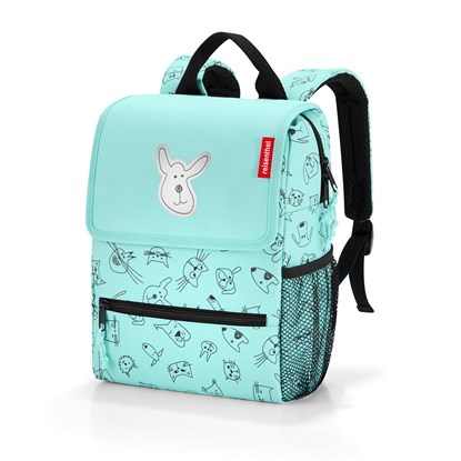 Dětský batoh Backpack kids cats and dogs mint_2