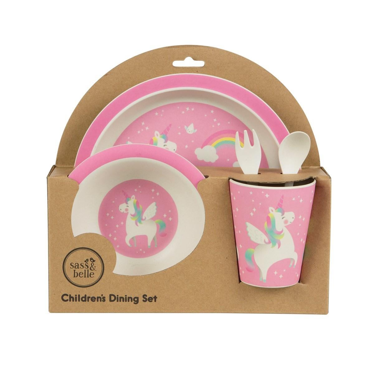 Dětský jídelní SET RAINBOW UNICORN_1
