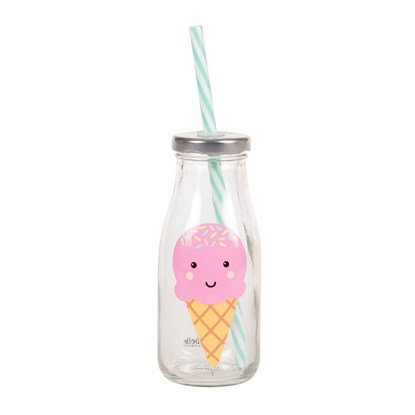 Lahvička s brčkem Happy Ice Cream_0