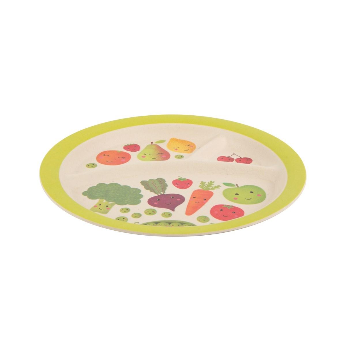Dětský talíř Happy Fruit & Veg 21cm_0
