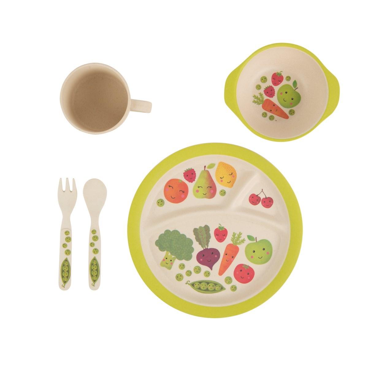 Dětský talíř Happy Fruit & Veg 21cm_2
