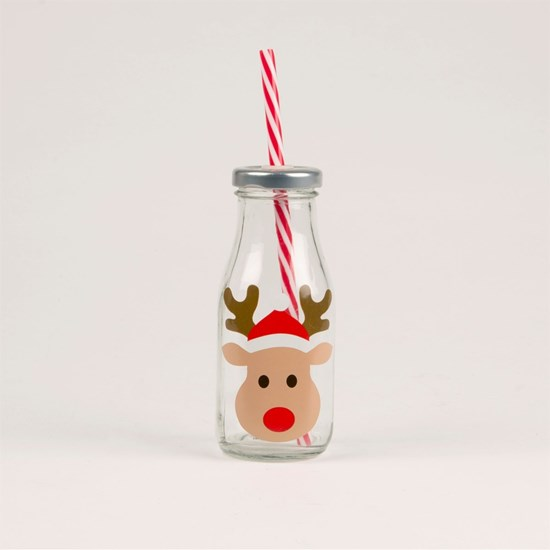 Lahvička s brčkem XMAS Reindeer_0