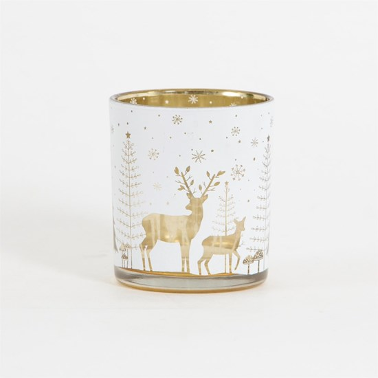 Svícen na čaj. svíčku Winter Forest Folk_0
