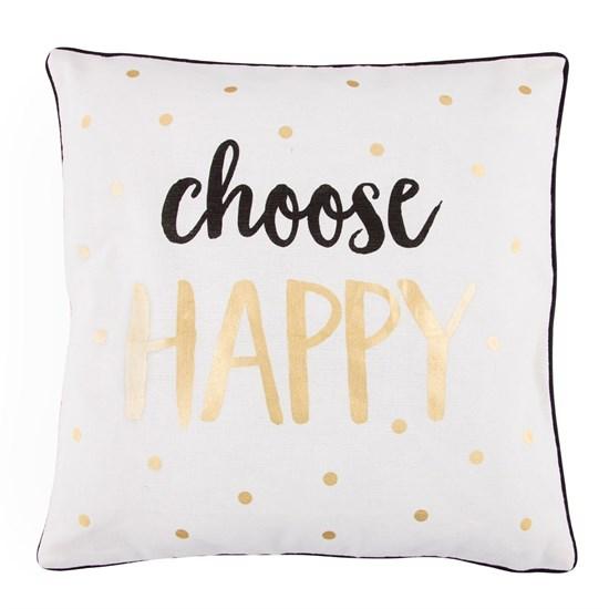 Povlak na polštář vč.výplně CHOOSE HAPPY_0