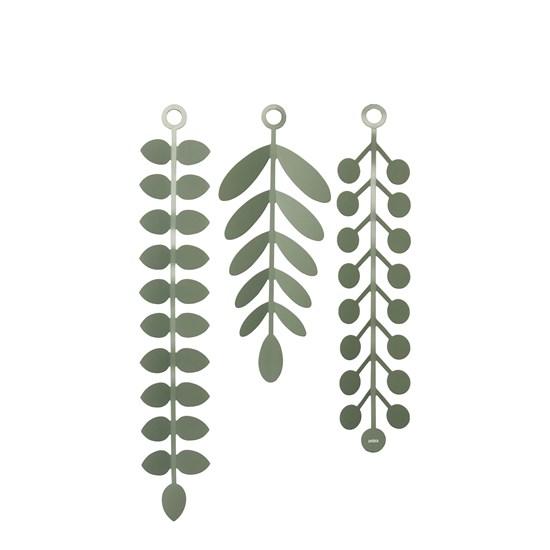 Nástěnná dekorace VINES zelená SET/18ks_2