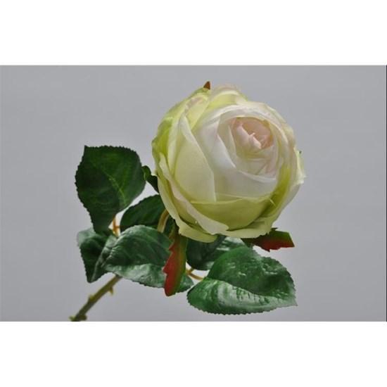 Růže s lístky zelená/růžová 46 cm_0