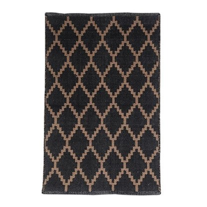 Tkaný koberec černohnědý 50x80cm_0