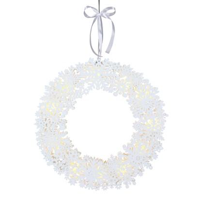 Závěsný svítící LED věnec Snowflake 45 c_0