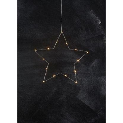 Drátěná hvězda na zavěšení 15x LED 37 cm_1