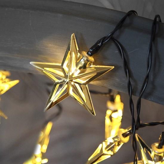Světelný řetěz METAL STAR 10 LED světel_0