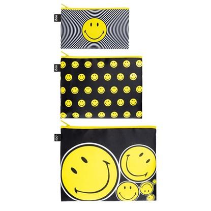 Cestovní kapsičky SET/3ks LOQI SMILEY_1