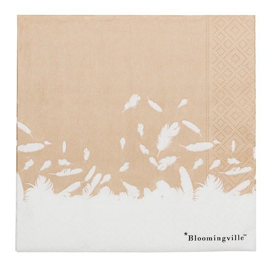 Papírové ubrousky - motiv pírek bal. 20 ks_1