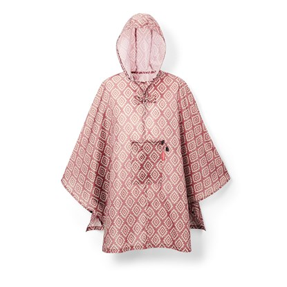 Poncho MINI MAXI diamonds rouge_1