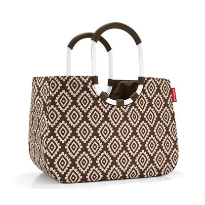 Nákupní taška LOOPSHOPPER L diamonds mocha_1